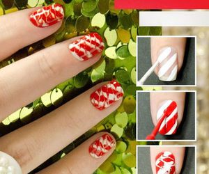 nails, tutorial, and red image