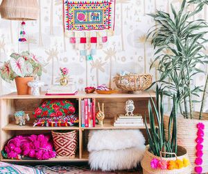 boho, room, and decoration image