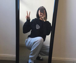 girl and mirror selfie image