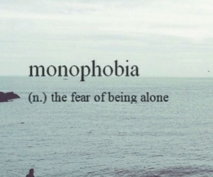 alone, definition, and phobia image