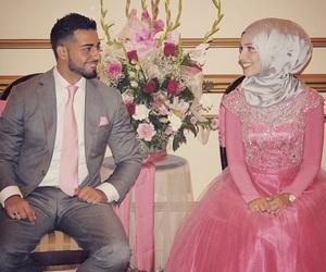 hijab, muslim, and love image