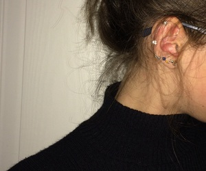 autumn, black, and earring image