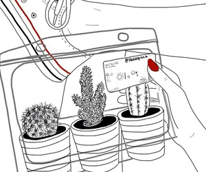 outline, cactus, and converse image