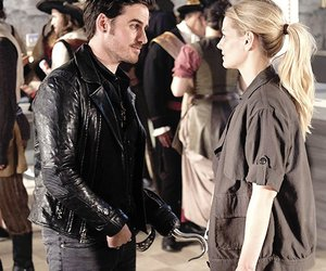 once upon a time, captain hook, and captain swan image