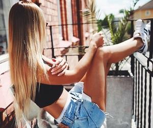 girl, fashion, and hair image