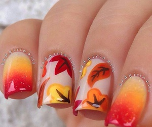 nails, leaves, and orange image