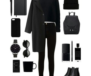 look, black, and outfit image