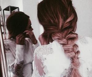 hair, braid, and dress image