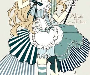 alice in wonderland, anime girl, and anime image