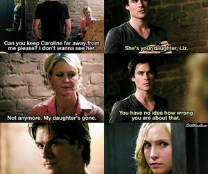 caroline forbes, ian somerhalder, and the vampire diaries image