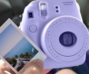 purple and instax mini 8 image