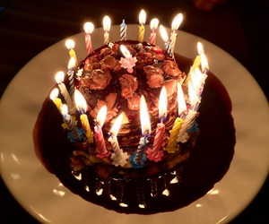 birthday, cake, and candels image