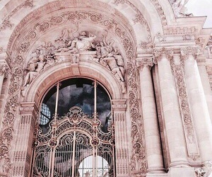 pink, rose gold, and architecture image