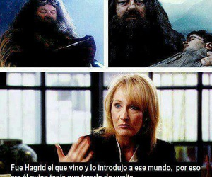 harry potter, hagrid, and jk rowling image