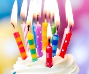 candles, cupcake, and birthday image