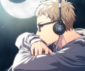 haikyuu, tsukishima, and anime image