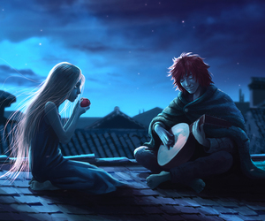 the name of the wind, kvothe, and auri image
