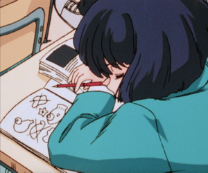 anime, aesthetic, and sleep image