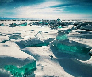 ice, snow, and nature image