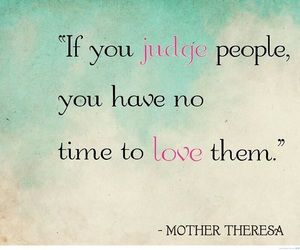 quote, love, and judge image