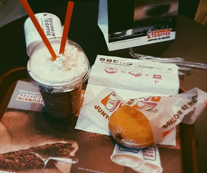 cafe, dunkin coffee, and coffee image