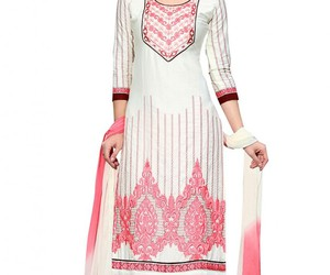 college girls, salwar suits, and straight suits image