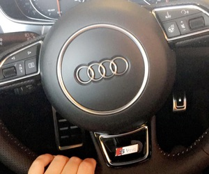 car, snapchat, and audi a6 image