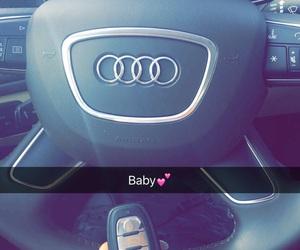 car, audi a6, and snapchat image