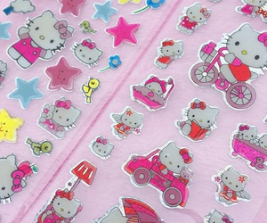 hello kitty, stickers, and kawaii image