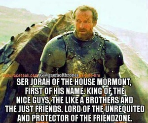 friendzone, game of thrones, and funny image