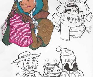 overwatch, ana, and reaper image