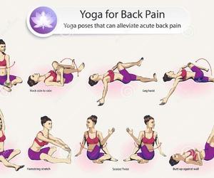 back, yoga, and back+pain image