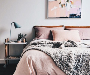 bed, chill, and pillow image