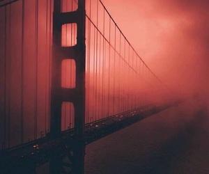bridge, red, and travel image