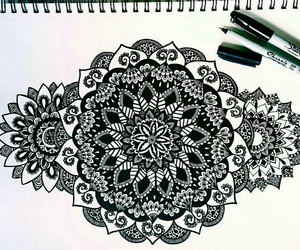 black and white, draw, and art image