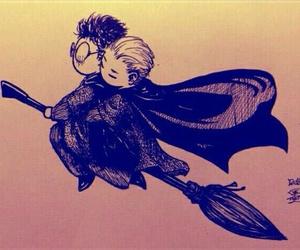 draco malfoy, fan art, and harry potter image
