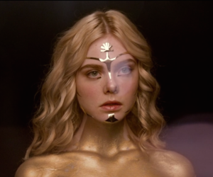 film, gold, and Elle Fanning image