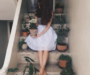 girl and plants image