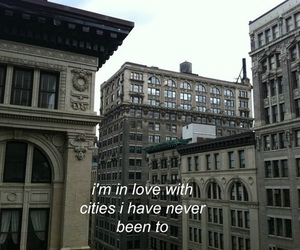 city, travel, and quotes image