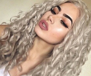 curly, hair, and flawless image