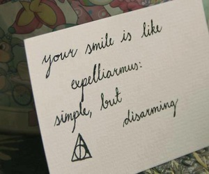 harry potter, smile, and expelliarmus image