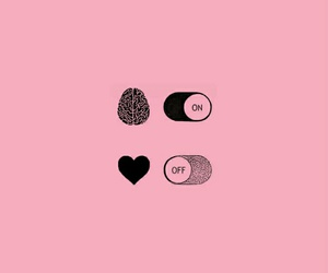 heart, brain, and pink image