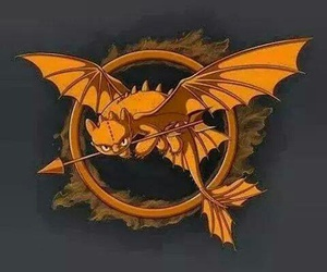 how to train your dragon, the hunger games, and toothless image