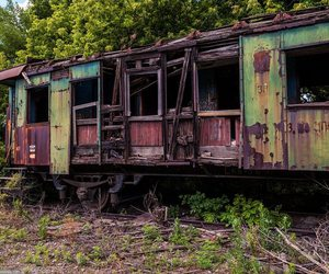 abandoned, train, and urbex image