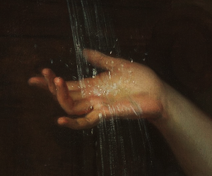 detail, hand, and water image