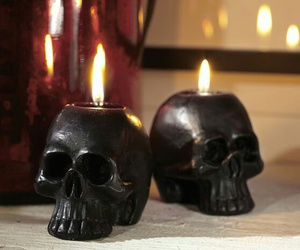 candles and skull image