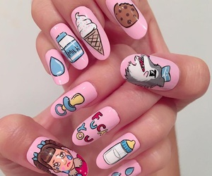 nails, melanie martinez, and pink image