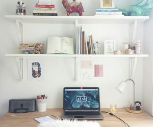 desk, inspiration, and study image