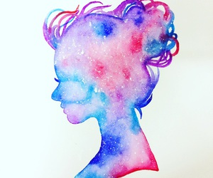 art, paint, and silhouette image