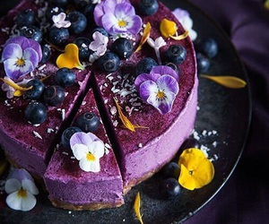 cake, delicious, and purple image